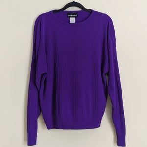 Violet Purple Ribbed Lightweight Sweater